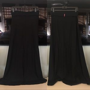 Hardtail black cotton long skirt
